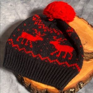 Abercrombie & Fitch Hat with Moose and PomPom